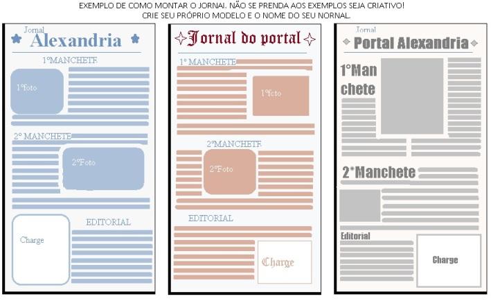 modelos de jornais