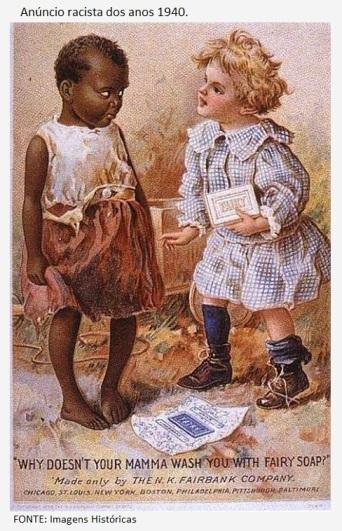 Anúncio racista dos anos 1940.